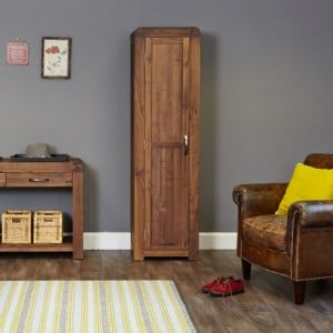 Shiro Walnut Furniture Tall Shoe Cupboard
