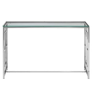 Allure Clear Glass and Silver Base Console Table
