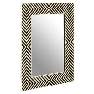 Boho Chic Furniture Bone Inlay Frame Wall Mirror