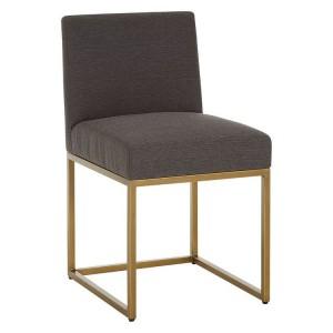 Diamond Oak Veneer Furniture Grey Fabric Dining Chair