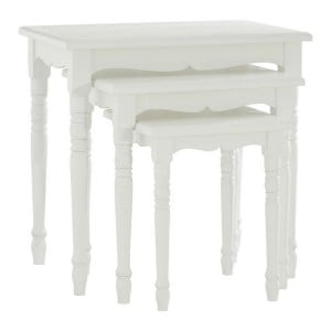 Hendra Weathered White Furniture Set Of 3 Nesting Tables