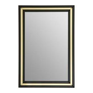 Kensington Townhouse Black and Gold Mirrored Glass Wall Mirror