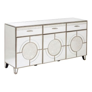 Kensington Townhouse Silver Metal 3 Drawer 3 Door Cabinet