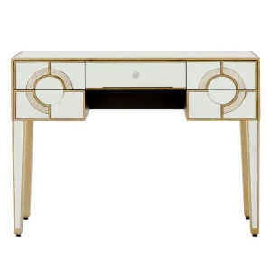 Knightsbridge Mirrored Glass Furniture Art Deco 5 Drawer Console Table