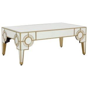Knightsbridge Mirrored Glass Furniture Art Deco Coffee Table