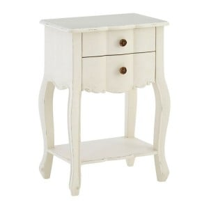 Loire Painted Furniture White Bedside Table