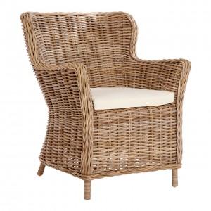 Lovina Grey Kubu Rattan Wing Back Chair