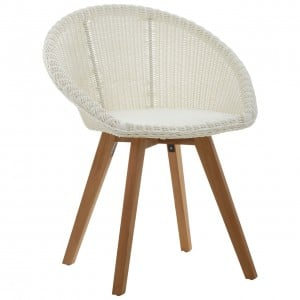 Lovina Plastic Rattan and Teak Wood Chair