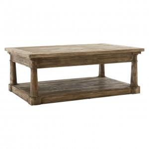 Lovina Reclaimed Pine Wood Furniture Coffee Table with Shelf