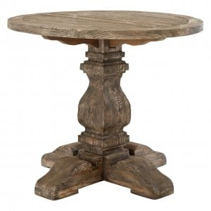 Lovina Reclaimed Pine Wood Furniture Round Small 90cm Dining Table