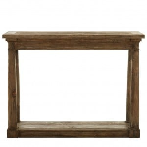 Lovina Reclaimed Pine Wood Furniture Rustic Console Table with Shelf