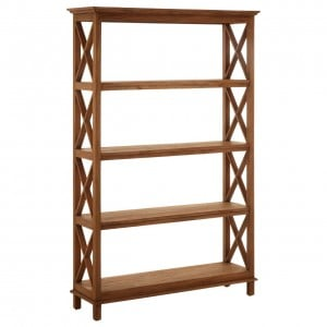 Lovina Teak Wood Furniture 4 Tier Shelf Unit