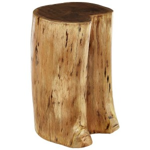Nandri Acacia Wood and Metal Furniture Acacia Wood Stool