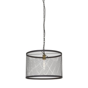 New Foundry Industrial Furniture Black Iron Wire Pendant Light