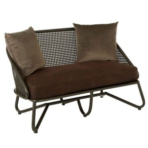 New Foundry Industrial Furniture 2 Seat Sofa With Curved Legs