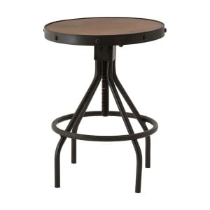 New Foundry Industrial Furniture Fir Wood Metal Height Adjustable Stool