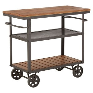 New Foundry Industrial Furniture Fir Wood Metal Kitchen Table Cart