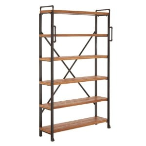 New Foundry Industrial Furniture Fir Wood and Metal Tall Shelf Unit
