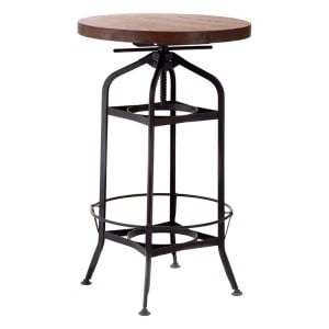 New Foundry Industrial Furniture Height Adjustable Bar Table