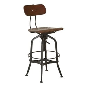New Foundry Industrial Furniture Height Adjustable Kitchen Bar Stool