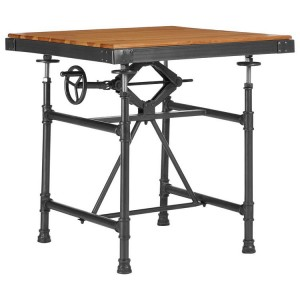 New Foundry Industrial Furniture Height Adjustable Small Dining Table