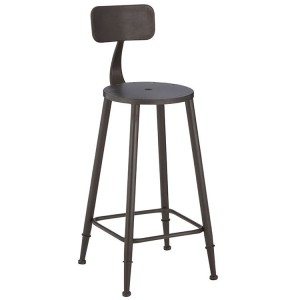 New Foundry Industrial Furniture Metal Bar Chair with Footrest