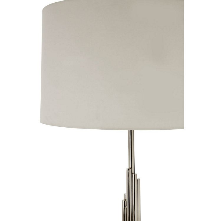 Richmond Stainless Steel Floor Lamp With White Fabric Shade Fusion Furniture Store