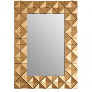 Soho Mirrored Glass Furniture Copper Rectangular Wall Mirror