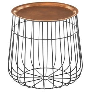 Templar Copper Finish Iron Industrial Style Tray Table