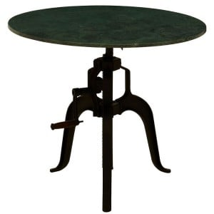 Vasco Industrial Furniture 3 Leg Green Marble Small Round Dining Table