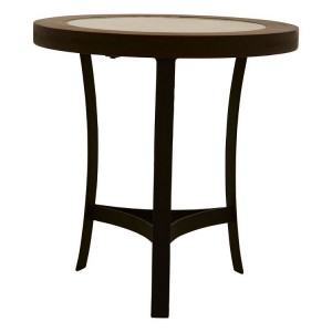 Vasco Industrial Furniture Side Table With Metal Curved Base