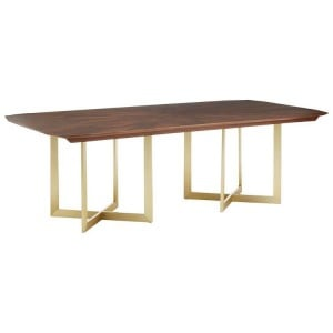 Villi Contemporary Furniture Walnut Wood Extra Large Fixed Dining Table