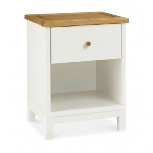 Atlanta Two Tone Painted Furniture 1 Drawer Bedside Cabinet
