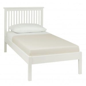 Atlanta White Painted Furniture Single 3ft Bed Low Footend