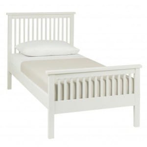 Atlanta White Painted Furniture Single 3ft Bed