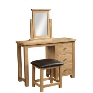 Dorset Oak Furniture Dressing Table And Stool