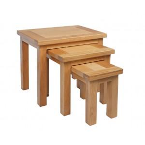 Devonshire Dorset Oak Furniture Nest of Tables