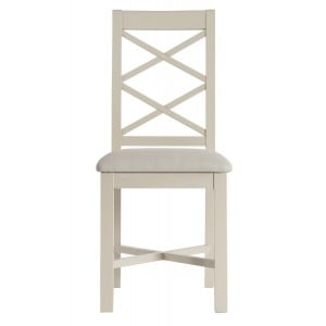 Intone Painted Furniture Fabric Seat Dining Chair