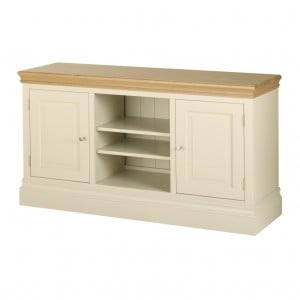Lundy Painted Oak Furniture 2 Door TV Unit