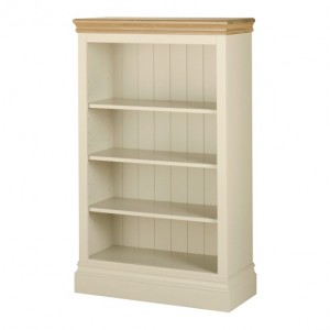 Lundy Painted Oak Furniture 4ft Bookcase