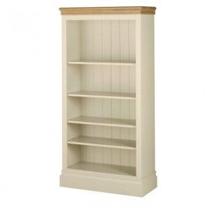 Lundy Painted Oak Furniture 5ft Bookcase