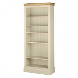 Lundy Painted Oak Furniture 6ft Bookcase