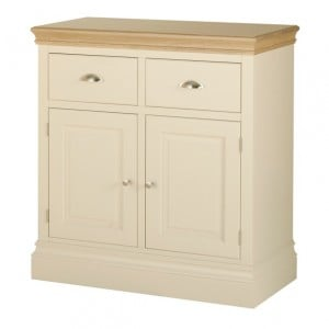 Lundy Painted Oak Furniture 2 Drawer Sideboard