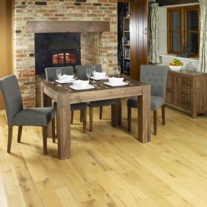 Mayan Walnut Furniture 4 Seater Dining Table