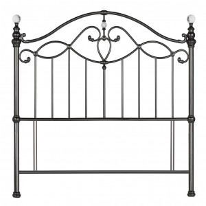 Bentley Designs Elena Black Nickel Headboard Double 4ft6