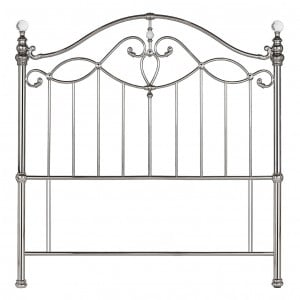 Bentley Designs Elena Silver Nickel Headboard Kingsize 5ft