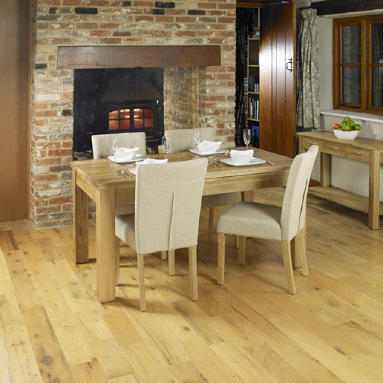mobel oak furniture 8 seater hidden extending dining table