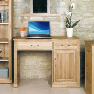 Mobel Oak Furniture Single Pedestal Computer Desk