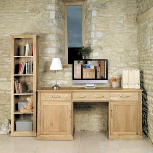 Mobel Oak Furniture Large Hidden Computer Desk