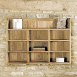 Mobel Oak Furniture Reversible Wall Rack Shelves